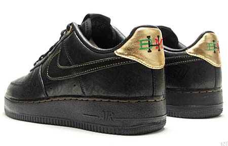 NIKE NIKE AIR FORCE 1 LOW PREMIUM [Black History Month 2011] 453419-007 画像