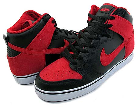 NIKE NIKE 6.0 DUNK SE HIGH [BLACK/VARSITY RED-WHITE] 454056-002 画像