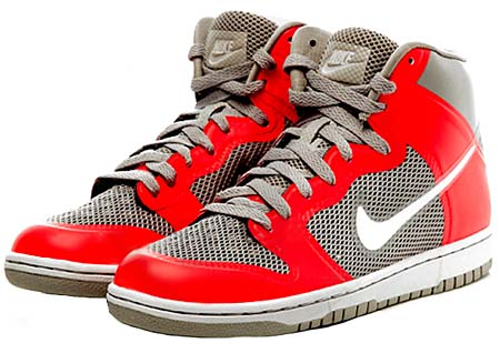NIKE NIKE DUNK HI HYPERFUSE PRM [GREY/SOLAR RED] 454498-001 画像