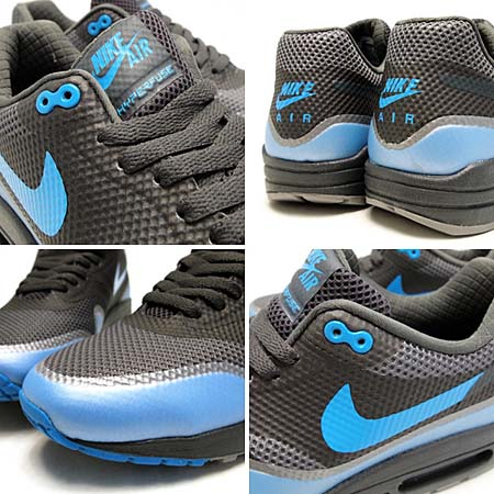 NIKE AIR MAX 1 HYPERFUSE PREMIUM [MIDNIGHT FOG/MEDIUM GREY-BLUE GLOW] 454745-002