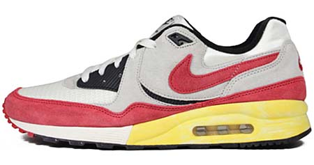 NIKE NIKE AIR MAX LIGHT VNTG QS [WHITE/NEUTRAL GREY-SPORT RED] 482932-100 画像