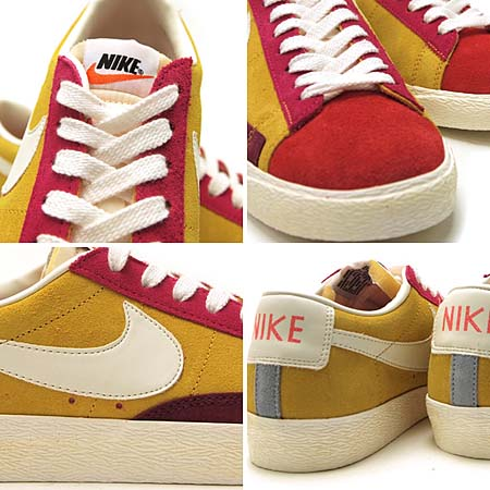 NIKE BLAZER LOW SUEDE VINTAGE QS [YEL/PINK/ORG/GRY/BGD/WHT] 508219-706
