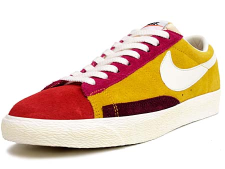 NIKE NIKE BLAZER LOW SUEDE VINTAGE QS [YEL/PINK/ORG/GRY/BGD/WHT] 508219-706 画像
