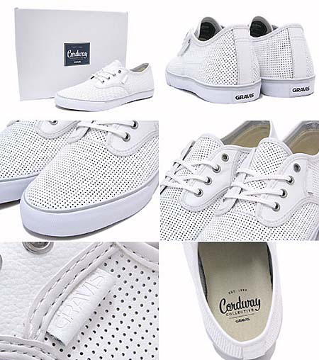 GRAVIS SLYMZ LEATHER [WHITE PERF] 268893-105 写真1