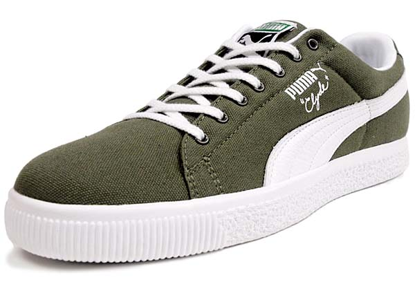 Puma CLYDE CANVAS LEATHER FS [OLIVE/WHITE]
