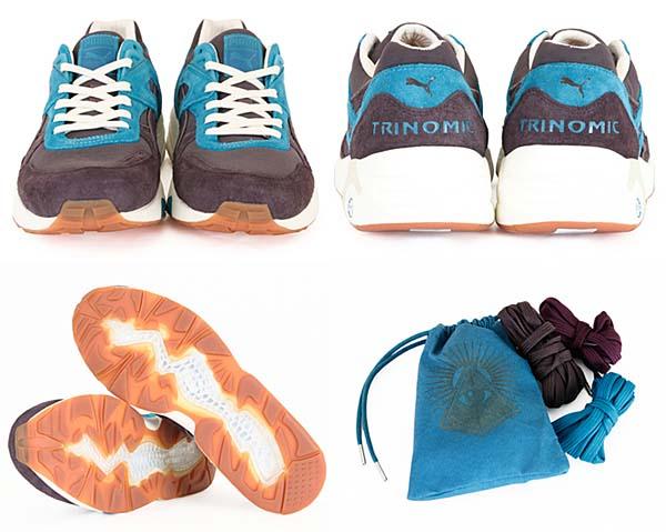 PUMA x Shadow Society R698 PSS [SHALE BROMN-MOSAIC BLUE] 354882 画像2