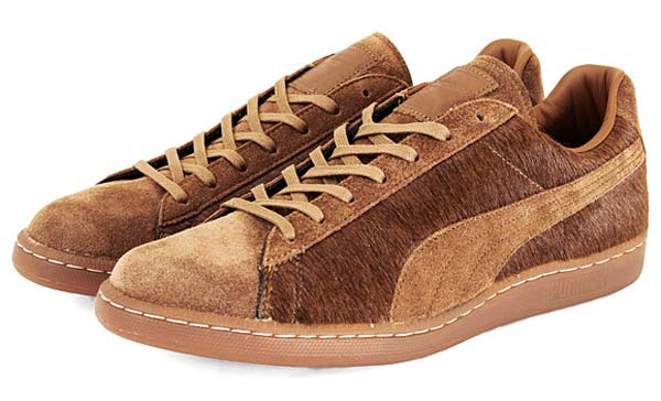 Puma JAPAN FIRST ROUND LO SUEDE FUR [BISON BROWN]