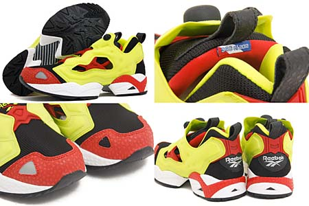 REEBOK PUMP FURY [BLACK/FIRECRACKER RED/YELLOW] J88613 写真1