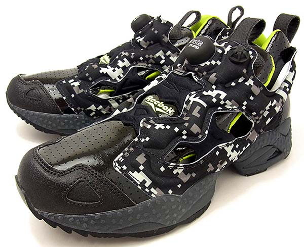 Reebok PUMP FURY [BLACK/CHARGED GREEN/GRAVL] J93189