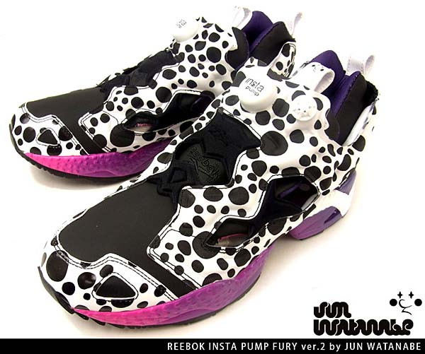 Reebok INSTA PUMP FURY ver.2 by JUN WATANABE [WHITE/BLACK/MAGENTA] J93698 写真3