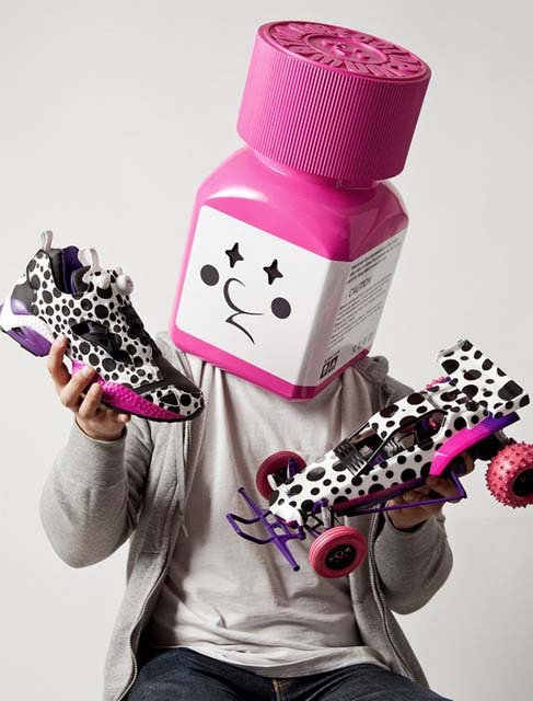 Reebok INSTA PUMP FURY ver.2 by JUN WATANABE [WHITE/BLACK/MAGENTA] J93698 写真4