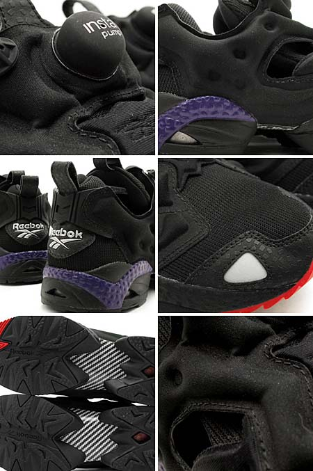 Reebok INSTA PUMP FURY [BLACK/RED/PURPLE] J94549 写真2