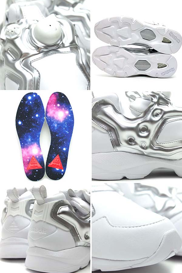 Reebok PUMP FURY HLS VERBAL MODEL [WHITE/SILVER] V44937 写真2