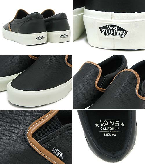 VANS CLASSIC SLIP-ON CA [BLACK BRAIDED] 0IL563B 写真1