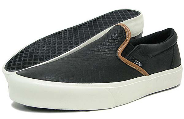VANS CLASSIC SLIP-ON CA [BLACK BRAIDED] 0IL563B