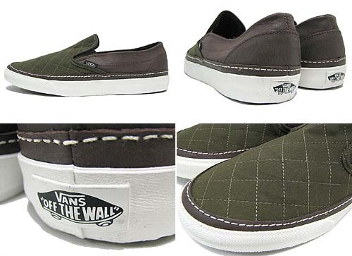 BARBOUR x VANS CLASSIC SLIP-ON CALIFORNIA [Classic Waxed] 0IL5746 写真1