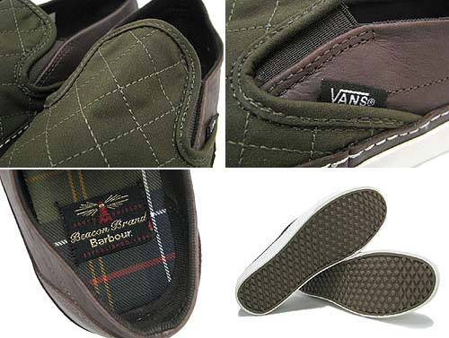 BARBOUR x VANS CLASSIC SLIP-ON CALIFORNIA [Classic Waxed] 0IL5746 写真2