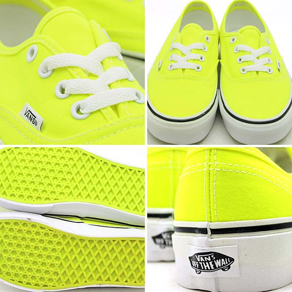 VANS AUTHENTIC [NEON YELLOW] 0NJV5KV 写真1