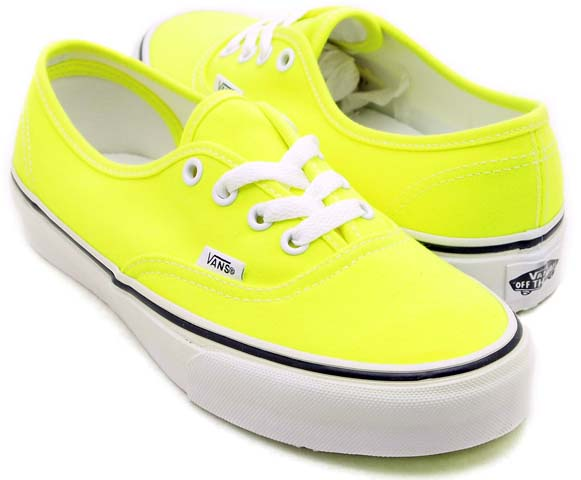 VANS AUTHENTIC [NEON YELLOW] 0NJV5KV