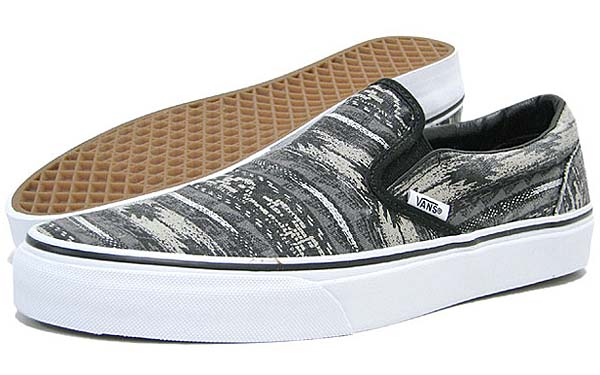 VANS CLASSIC SLIP-ON VAN DOREN [BLACK/STRIPES] 0QFD6G2