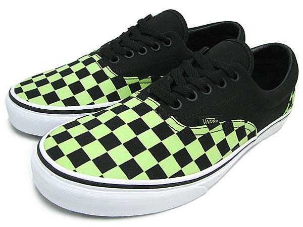 VANS ERA GLOW CHECKS [BLACK] 0QFK763