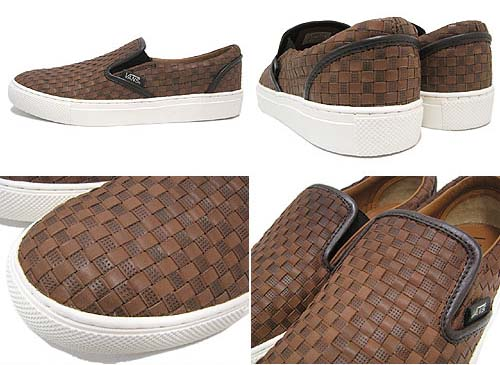 VANS SLIP ON NO.6 [Brown/Brown CHK2] V3060LXWV 写真1
