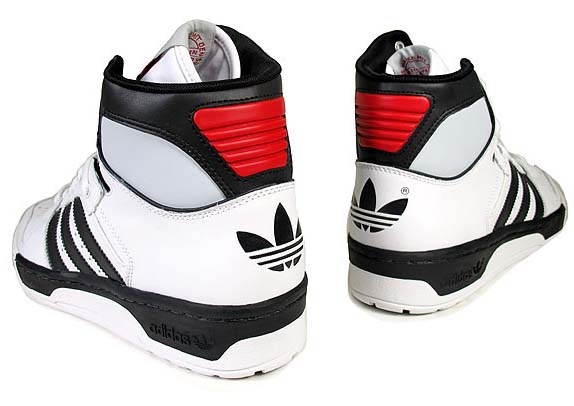 adidas CONDUCTOR HI [RUNWHITE/BLACK1/LIGHT SCARLET] 902394 写真1