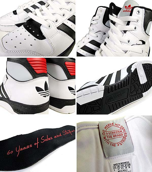 adidas CONDUCTOR HI [RUNWHITE/BLACK1/LIGHT SCARLET] 902394 写真2