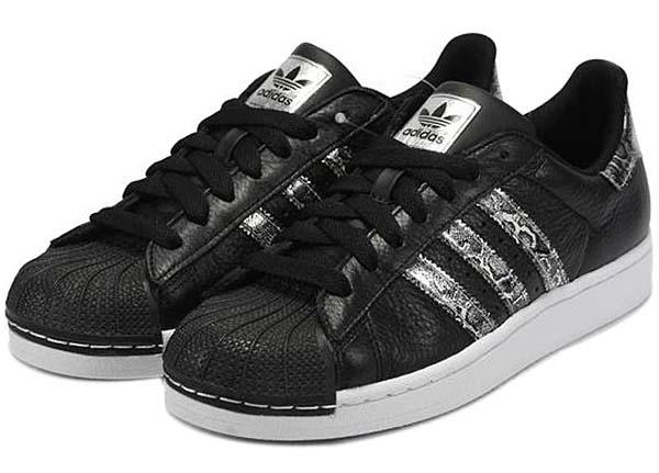 adidas SUPERSTAR 2 BLING [BLACK/METRIC SILVER/RUNWHITE] G62846 写真1