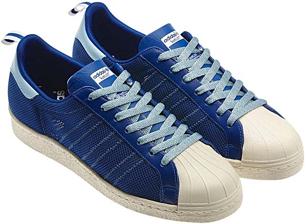 adidas ORIGINALS CLOT x Kazuki Kuraishi SUPERSTAR 80's [ROYAL/LIGHT BLUE] G63523