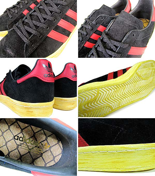 adidas ORIGINALS CAMPUS 80S MITA [BLACK/UNIVERSITY RED/CHALK2] G63525 写真1