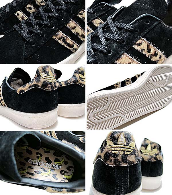 adidas Originals for XLARGE CAMPUS 80'S [BLACK LEOPARD] Q34551 写真1