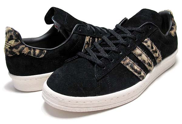 adidas Originals for XLARGE CAMPUS 80'S [BLACK LEOPARD] Q34551