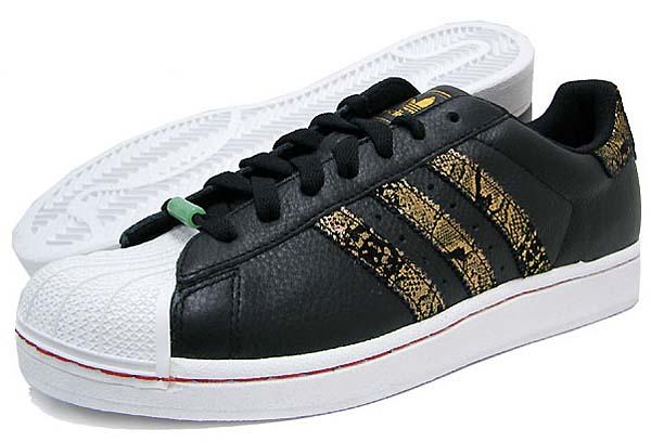 adidas SUPER STAR II CNY [BLACK1/METGOL/VIVRED] Q35135