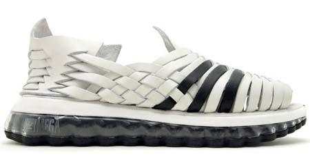 adidas OBYO Jeremy Scott JS MEGA SOFT CELL SANDALS [WHITE/BLACK] V22821 写真1