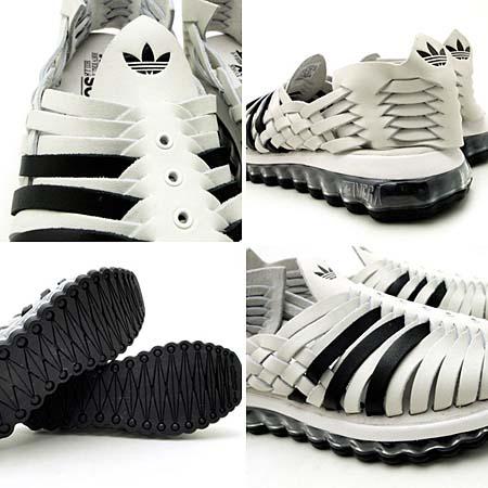 adidas OBYO Jeremy Scott JS MEGA SOFT CELL SANDALS [WHITE/BLACK] V22821 写真2