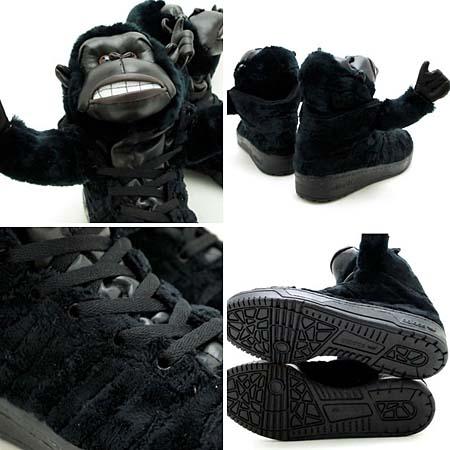 adidas OBYO Jeremy Scott JS GORILLA [BLACK] V24424 写真2