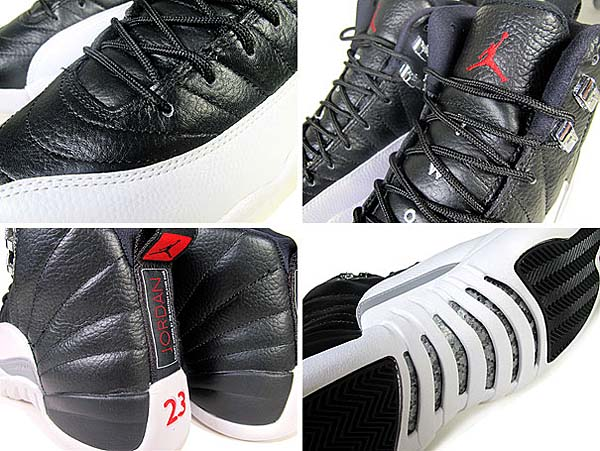 NIKE AIR JORDAN 12 RETRO [BLACK/VARSITY RED/WHITE] 130690-001