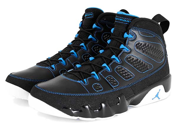 NIKE AIR JORDAN 9 RETRO [BLACK/WHITE-PHOTO BLUE] 302370-007