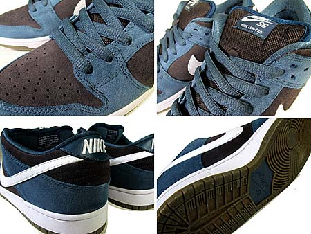 NIKE SB DUNK LOW PRO [SLATE BLUE/WHITE-TR-GUM LIGHT BROWN] 304292-026