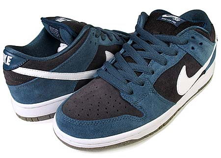 NIKE NIKE SB DUNK LOW PRO [SLATE BLUE/WHITE-TR-GUM LIGHT BROWN] 304292-026 画像