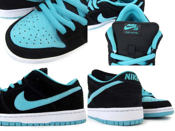 NIKE DUNK LOW PRO SB [BLACK/CLEAR JADE] 304292-030
