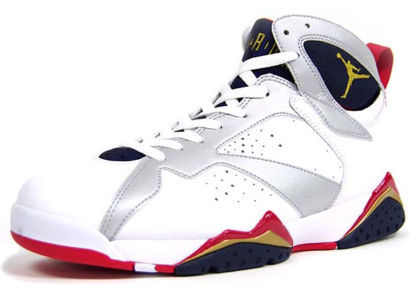 NIKE AIR JORDAN 7 RETRO DREAM TEAM PACK [WHITE/NAVY/GOLD/RED] 304775-135