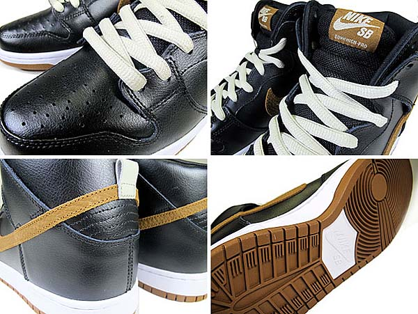 NIKE DUNK HIGH PRO SB [BLACK/LT BRITISH TAN] 305050-020