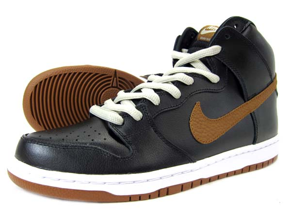 NIKE NIKE DUNK HIGH PRO SB [BLACK/LT BRITISH TAN] 305050-020 画像