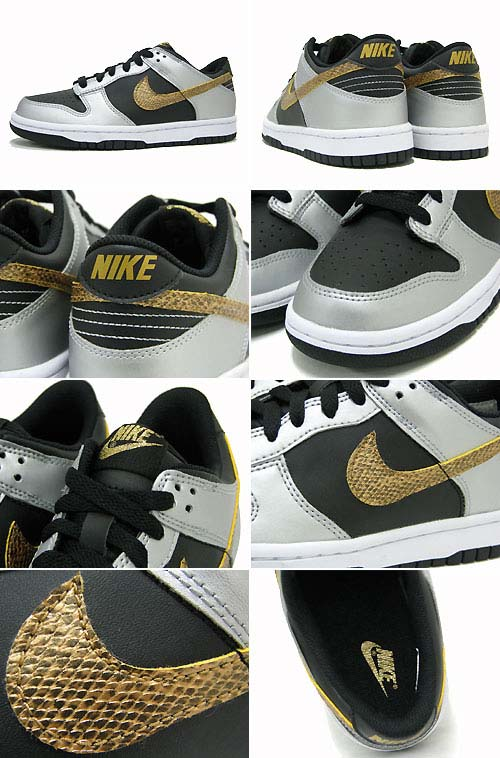 NIKE DUNK LOW GS YEAR OF SNAKE [BLACK/METALLIC GOLD/METALLIC SILVER] 309601-003