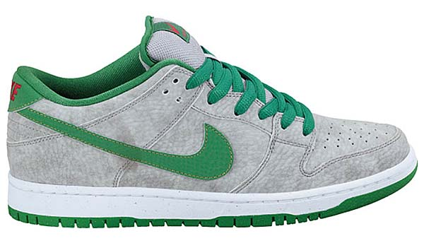 NIKE NIKE DUNK LOW PREMIUM SB [MATTE SILVER/CLASSIC GREEN-VARSITY RED] 313170-030 画像