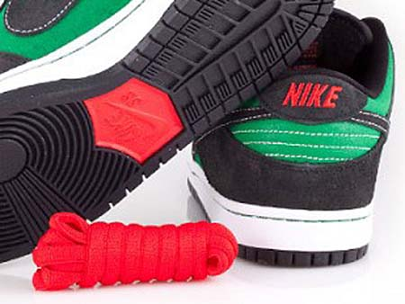 NIKE DUNK LOW PREMIUM SB [PINE GREEN/BLACK-ATOM RED] 313170-306