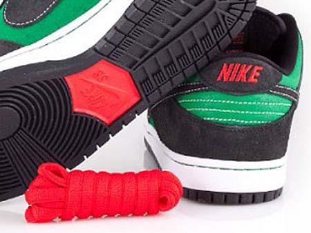 NIKE DUNK LOW PREMIUM SB [PINE GREEN/BLACK-ATOM RED] 313170-306