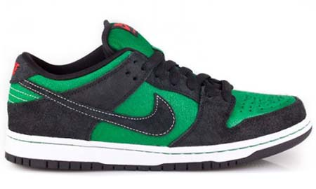 NIKE NIKE DUNK LOW PREMIUM SB [PINE GREEN/BLACK-ATOM RED] 313170-306 画像
